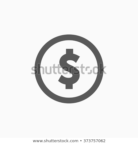 Signe du dollar icône argent signe marché trésorerie Photo stock © kiddaikiddee