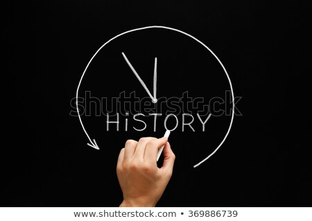 History Arrow Clock Concept Blackboard Stock photo © ivelin