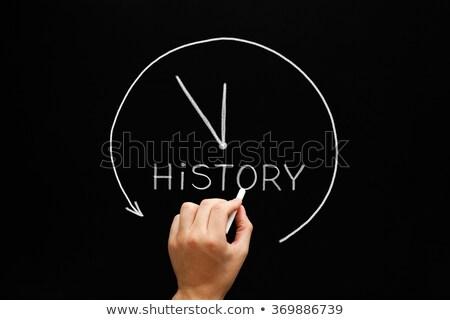 history arrow clock concept blackboard stock photo © ivelin