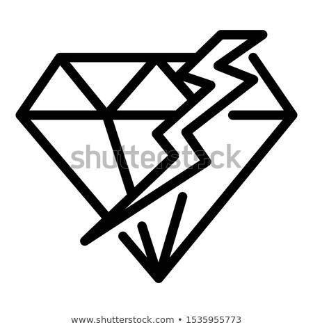 сломанной треснувший алмазов высокий разрешение моде Сток-фото © Arsgera
