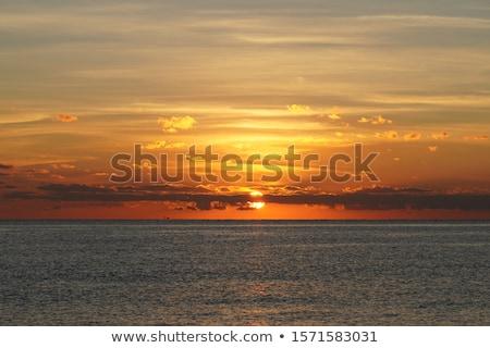 nascer · do · sol · oceano · céu · abstrato · Flórida - foto stock © elenaphoto