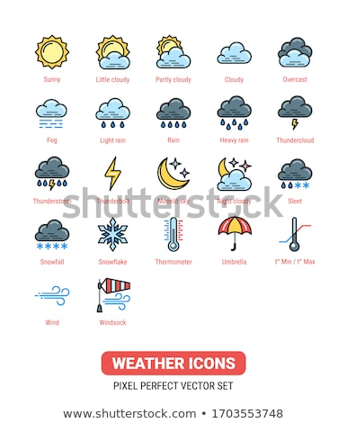 Weather Forecast Icons Set, Sun Version Stock photo © ConceptCafe