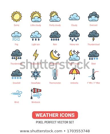 Hava durumu tahmin güneş versiyon siyah Stok fotoğraf © ConceptCafe