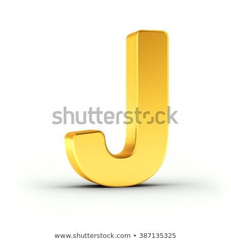 The letter J as a polished golden object with clipping path Stock photo © creisinger
