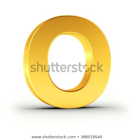 Polido dourado objeto branco Foto stock © creisinger