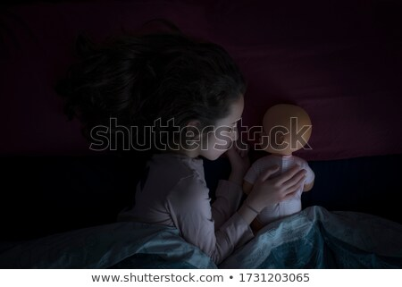 A little adorable girl and her dolly Stock photo © zurijeta