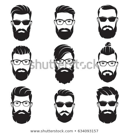 ストックフォト: 口ひげ · 男 · 顔 · 実例 · にログイン · デザイン