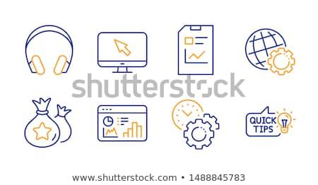 línea · icono · vector · aislado · blanco · infografía - foto stock © rastudio