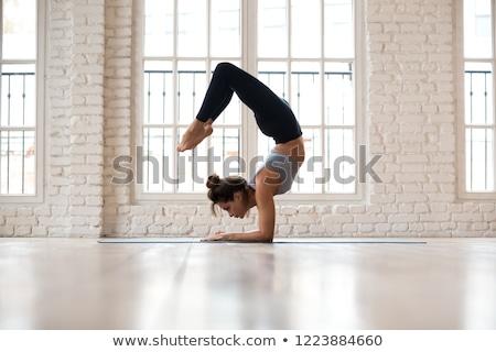 Scorpione yoga classe posa Foto d'archivio © kentoh