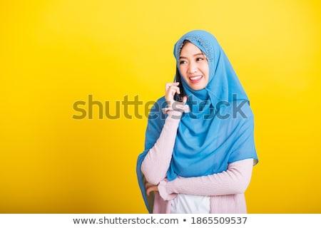 jonge · vrouw · moslim · pelgrim · witte · traditioneel · kleding - stockfoto © zurijeta