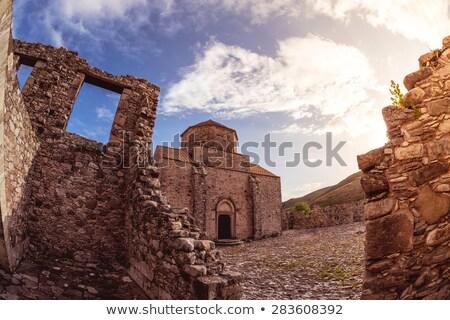 Manastır gün batımı bölge Kıbrıs seyahat taş Stok fotoğraf © Kirill_M