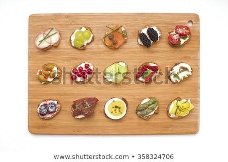 サラミ · ぱりぱり · フランス語 · ソーセージ · 肉 - ストックフォト © digifoodstock