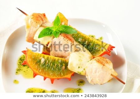 csirkemell · zöldség · gyümölcs · étel · háttér · asztal - stock fotó © digifoodstock