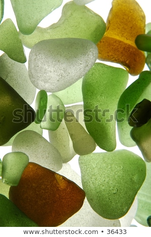 green pieces of glass polished by the sea Stock photo © marylooo