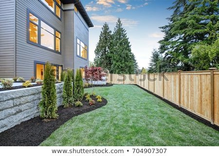 A house with a fence Stock photo © bluering