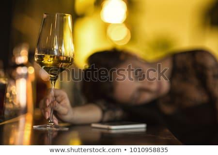 alszik · lány · rajzolt · emberek · karakter · izolált · illusztráció - stock fotó © rastudio