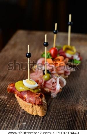 Tapas famoso espanhol festa dedo comida Foto stock © smuki