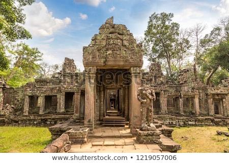 Angkor pormenor templo estátua história religião Foto stock © prill