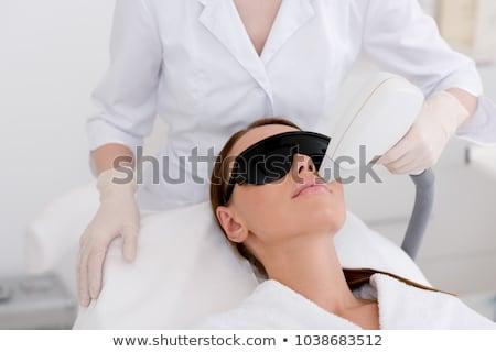 Lazer saç giderme güzellik salonu erkek terapist Stok fotoğraf © AndreyPopov