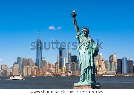 Estátua liberdade manhattan New York City azul Foto stock © hanusst