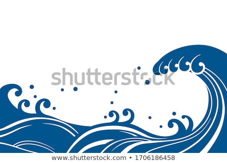 blue waves in the japanese style stock photo © conceptcafe