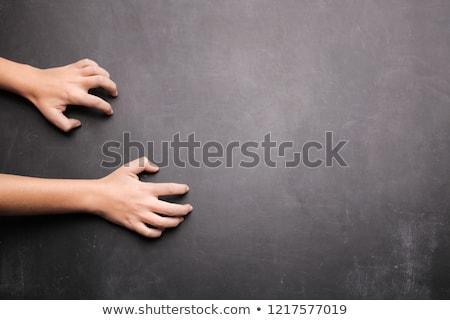 Tábla iskolatábla közelkép copy space oktatás fekete Stock fotó © asturianu