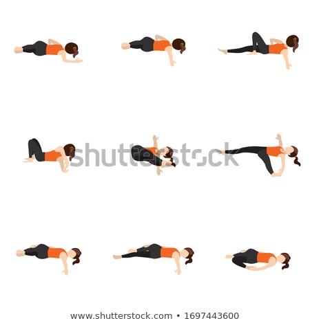 the spine twist yoga pose stock photo © kentoh