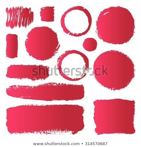 Batom vermelho adesivo etiqueta ilustração beleza Foto stock © rogistok