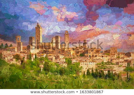 Famous Tuscany Landmark - Beautiful Landscape at the evening Stock photo © Taiga