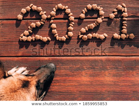 Rustic Christmas background on mahogany Stock photo © ozgur