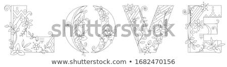 Dizayn kelime sevmek arka plan sanat Stok fotoğraf © bluering