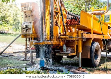 Foto stock: Drilling Rig Boring Hole