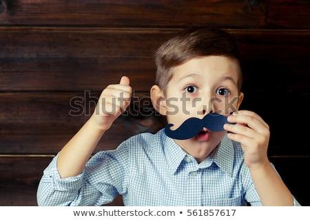 pequeno · menino · síndrome · bonitinho · família - foto stock © bezikus
