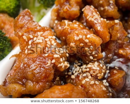 Takeout Chinese Sesame Chicken Stock photo © brianguest