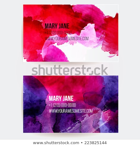 abstract colorful grunge ink splash business card template vecto Stock photo © SArts