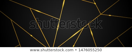 Bannière design résumé modèle or triangle Photo stock © fresh_5265954