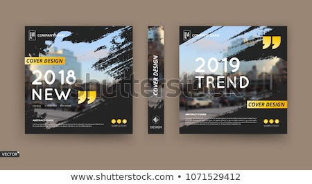 magazine cover page template layout with abstract shapes. bookle Stock photo © SArts