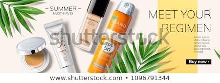 Publicité fondation cosmétiques produit illustration Photo stock © smeagorl