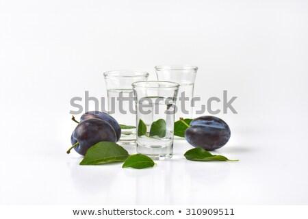 梅 ブランデー ショット 眼鏡 新鮮な 食品 ストックフォト © Digifoodstock