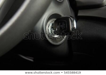 ключи от машины зажигание современных хром синий свет Сток-фото © albund