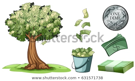 Money grows on tree and different types of money Stock photo © bluering