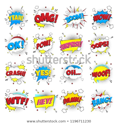 lettering yeah comic text sound effect in retro pop art cartoon stock photo © sarts