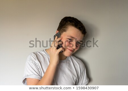 Young Boy with Cell Phone Stock photo © 2tun