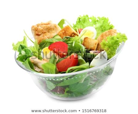 ensalada · cuscurro · carne · verduras · frescas · frito · placa - foto stock © yatsenko