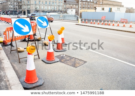 roadworks signs stock photo © claudiodivizia