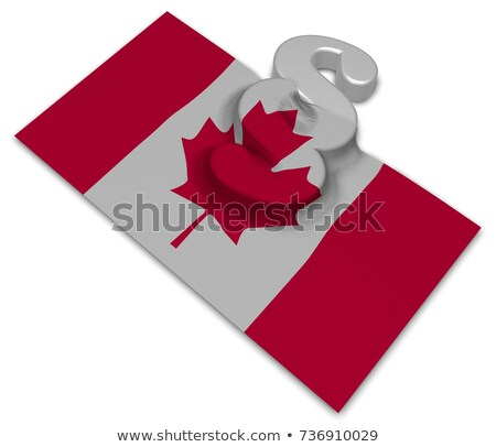 canada flag and paragraph symbol   3d illustration stock photo © drizzd