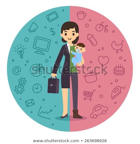 女性実業家 モチベーション 漫画 女性 幸せ スーツ ストックフォト © NikoDzhi