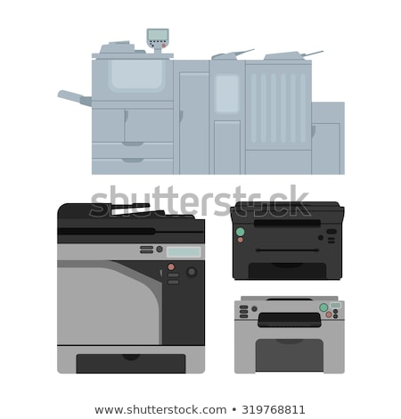 Stock photo: Small office printer printing documents