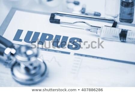 anestezi · tıbbi · turuncu · stetoskop · hapları · şırınga - stok fotoğraf © tashatuvango