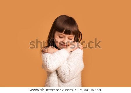 女の子 · リスニング · ヘッドホン · 音楽を聴く · 青 · 幸せ - ストックフォト © master1305